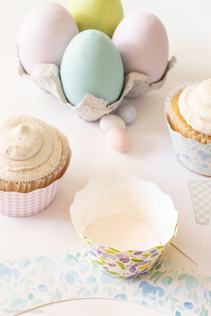 diy easy cupcake wrapper