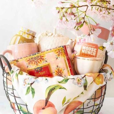 Gift Basket Ideas Pretty in Pink