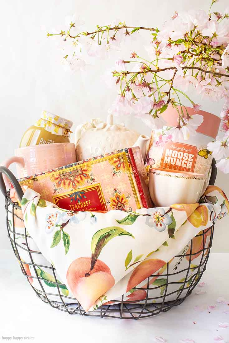 HomeGoods is a great place to shop for gifts. Need some Gift Basket Ideas for Mother's Day? Or for that matter any friend who loves tea parties? Well, this post teaches all the things to consider when putting together a great gift basket from the container to the perfect items from HomeGoods! #giftbasketideas #giftbaskets #gifts #HomeGoods #shopbaskets #teabasket