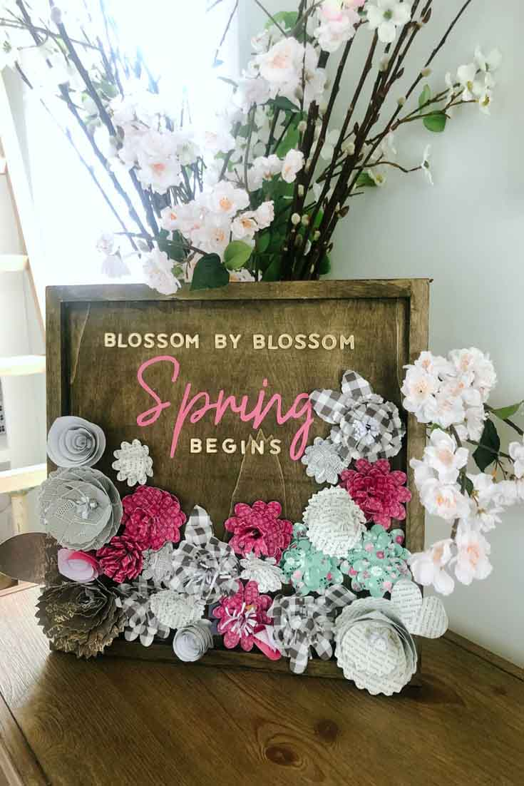 Spring Paper Flower Wall Art.