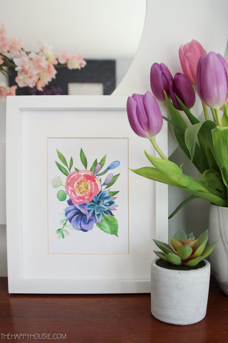 A flower printable that is a part of 7 wonderful flower project ideas.