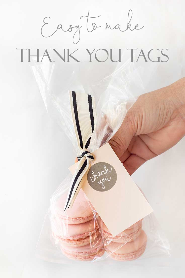 Need a Thank You Tag DIY? Then you'll want to check out this easy project. It looks cute and is super inexpensive to make! #crafts #cards #papercrafts #card