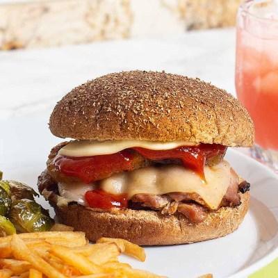 Chicken Teriyaki Grilled Burgers