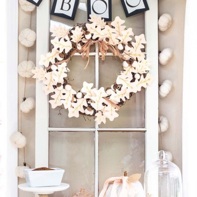 Easy Paper Halloween Garland DIY