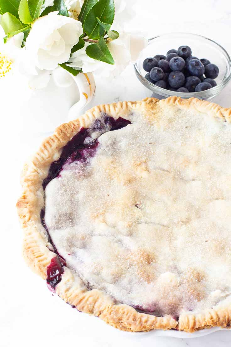 I've been making the Best Blueberry Pie Recipe for many years. And this blueberry pie filling has a smoothness that is an excellent combination with blueberries. It has a special ingredient that creates this wonderful smooth filling. You'll love this pie filling recipe since it is so easy to make! #thebestblueberrypie #blueberrypie #pierecipes