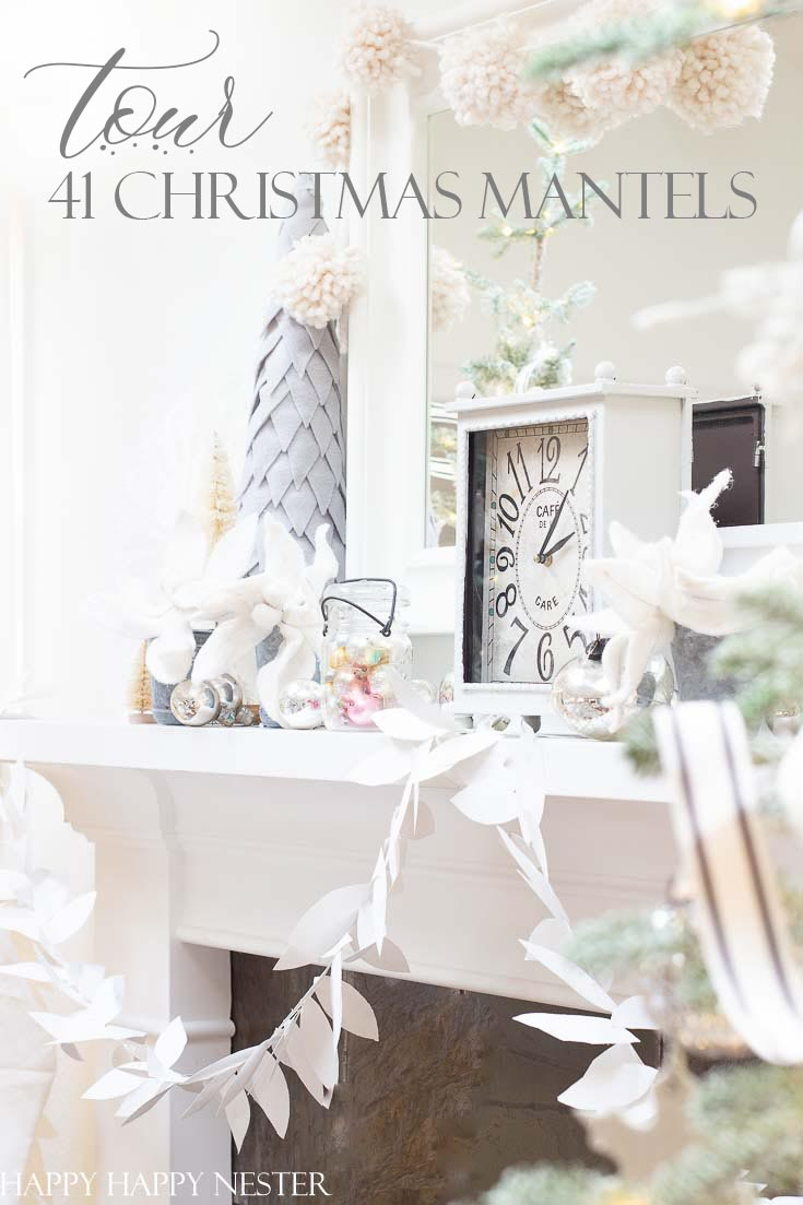 This post is all about Mantel Decor For Christmas. 41 bloggers are sharing their beautiful mantels for the holidays. It is a fabulous collection of winter mantels. #decor #holidaydecor #christmasmantel #howtodecorateamantel #manteldecor