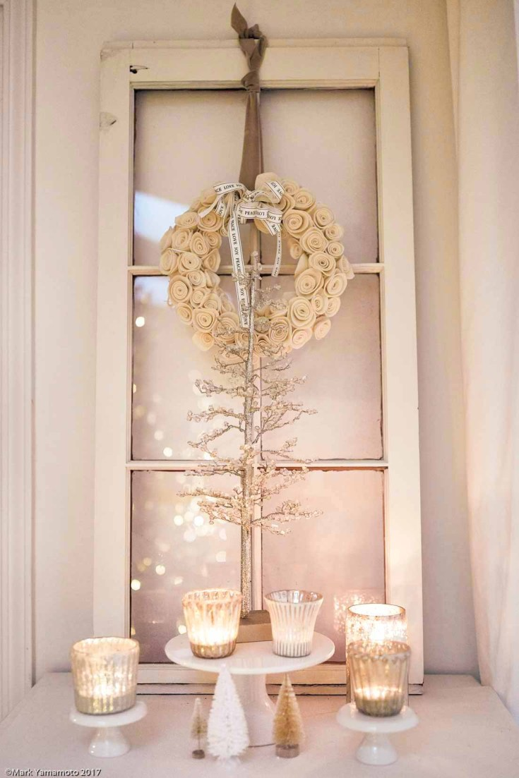 This Christmas night tour is full of beautiful inspiration. If you want some Christmas ideas for your dining room, living room, and bedroom then make sure to check out this post. Also, you'll find a pretty outdoor dining table! #christmas #christmastour #holidaydecor