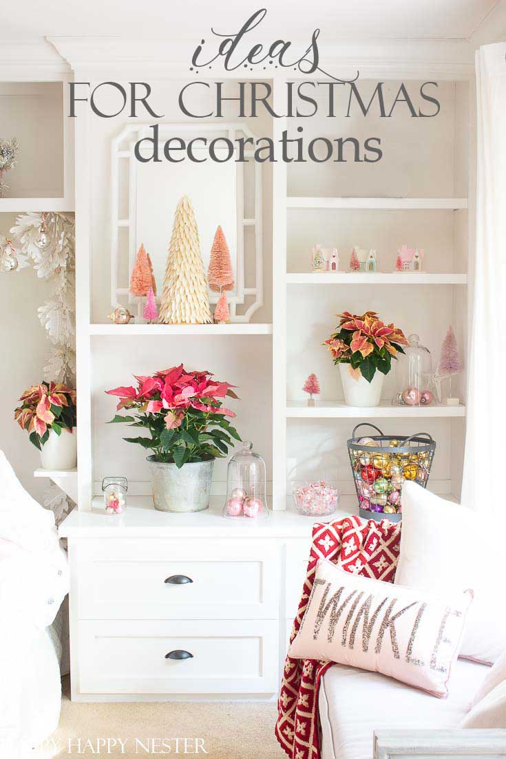 Do you need some Easy Ideas for Christmas Decorations? This post contains a wide array of holiday decor. Tons of decorating ideas from 15 talented bloggers. #christmas #christmasdecorating #holidaydecor