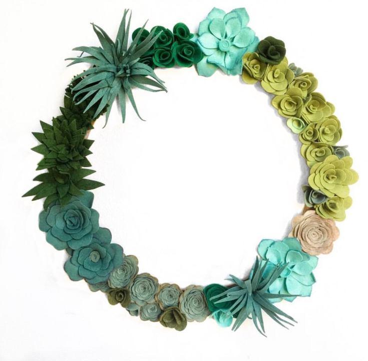 pretty felt wreaths