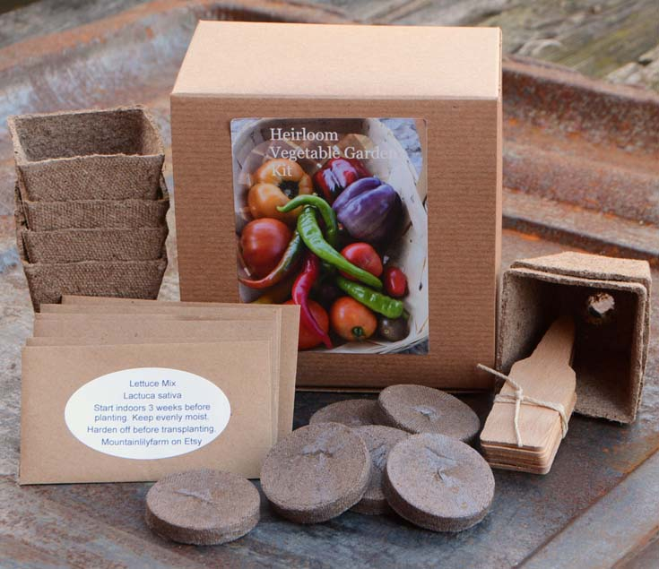 vegetables and flowers seed starter kits