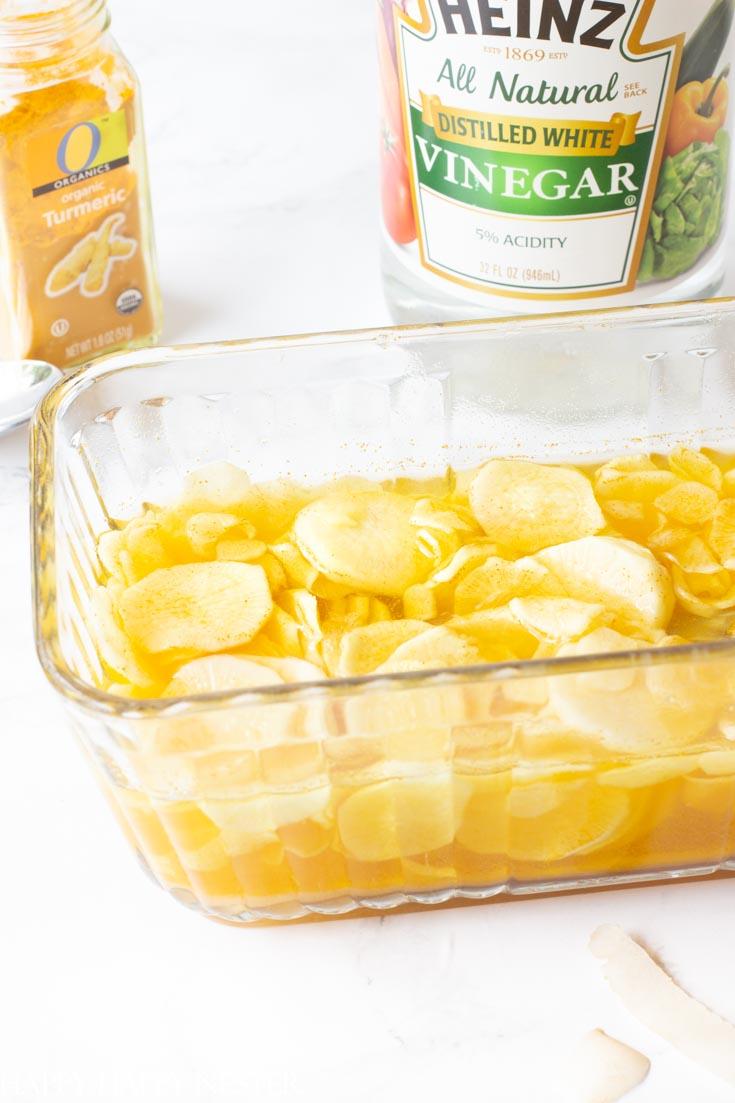 sweet pickled daikon recipe