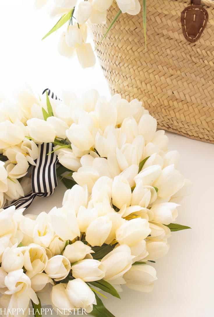 how to make a white tulip wreath diy