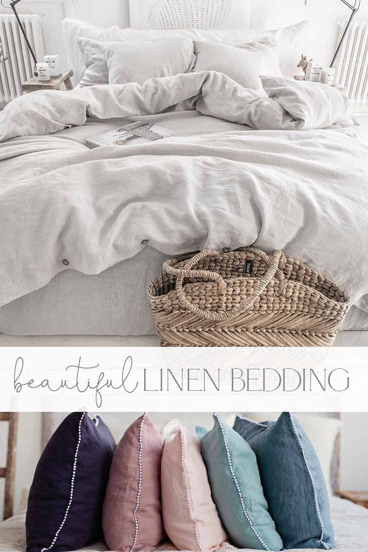 where to find beautiful linen bedding