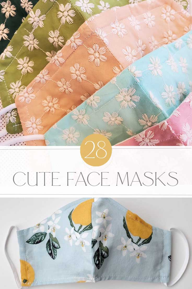 cute cloth face masks pin