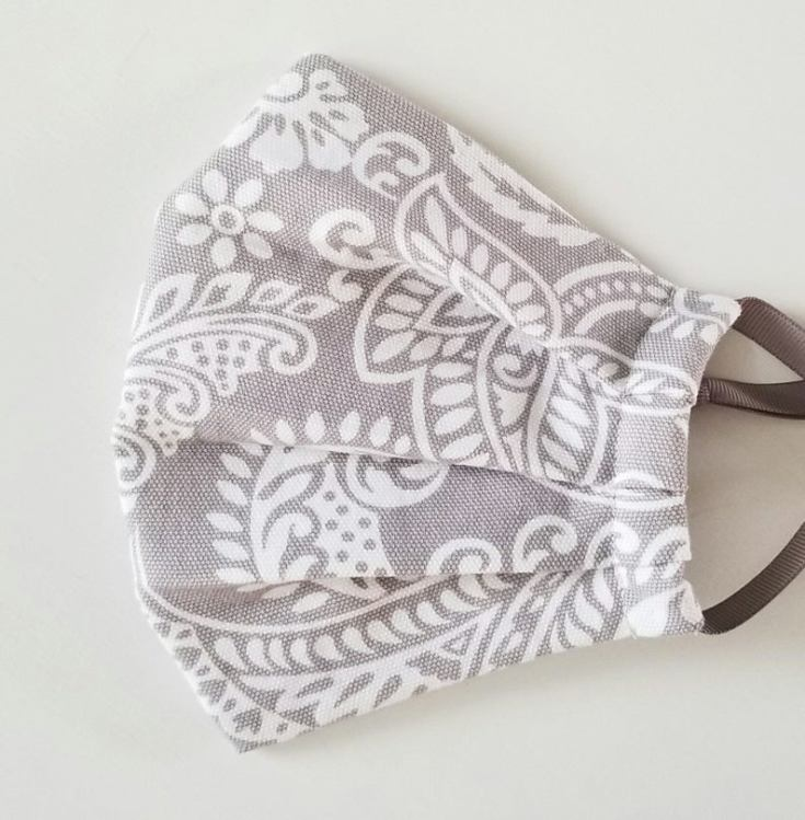 cute cloth face masks with pretty paisley fabric