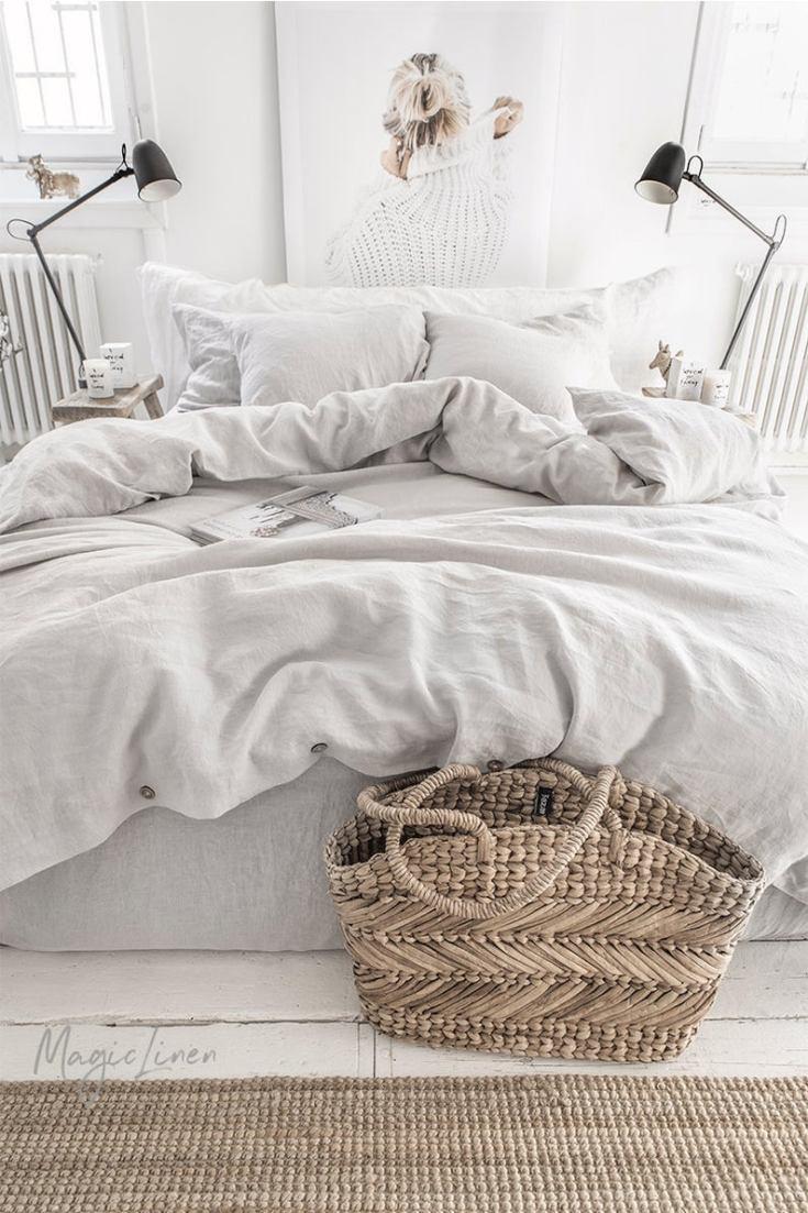 beautiful linen bedding