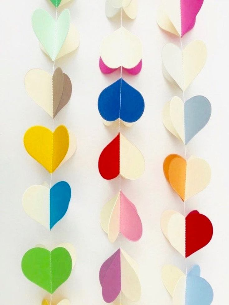 These are perfect pretty paper garlands for a wedding or special occasions.