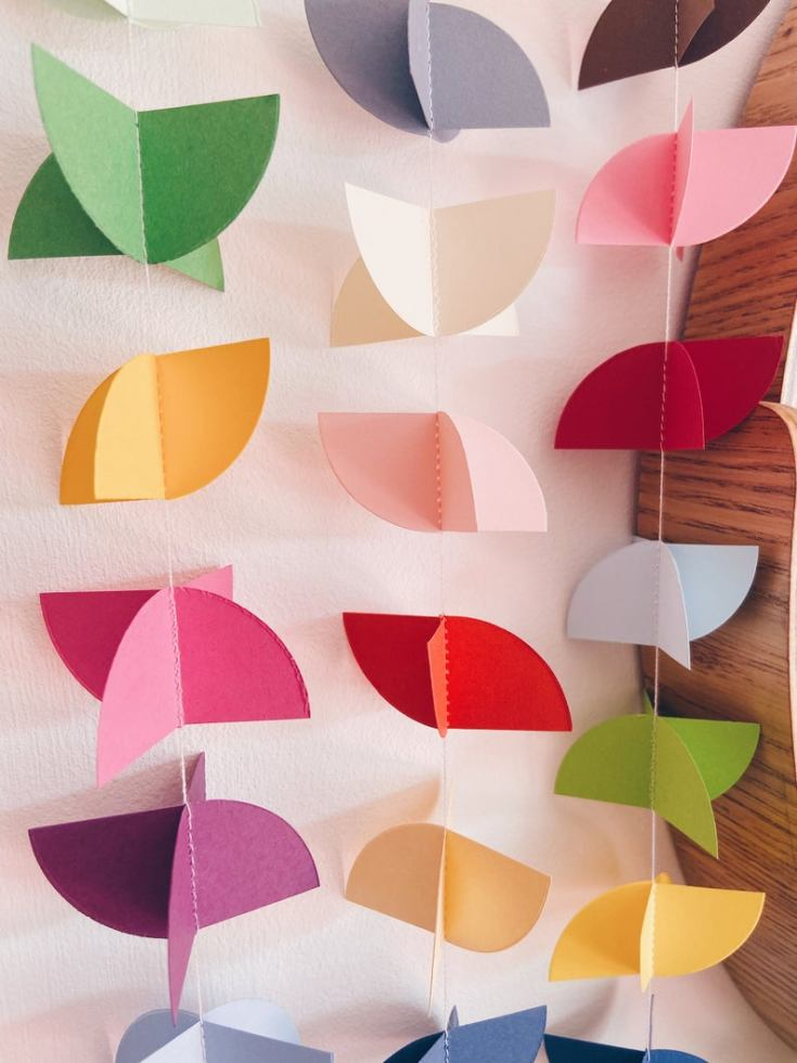 Where to find pretty paper garlands online