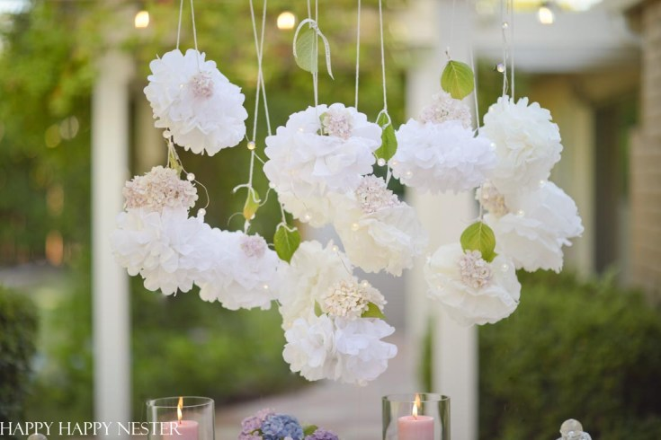 romantic outdoor summer table