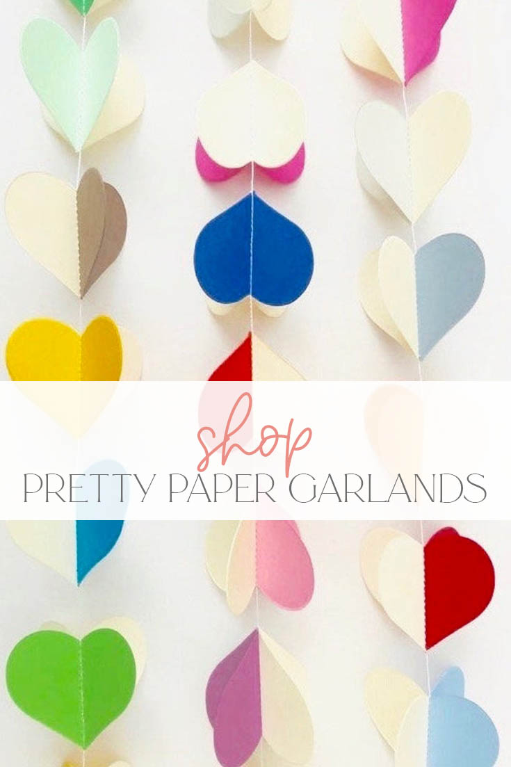 Where to buy pretty paper garlands online pin