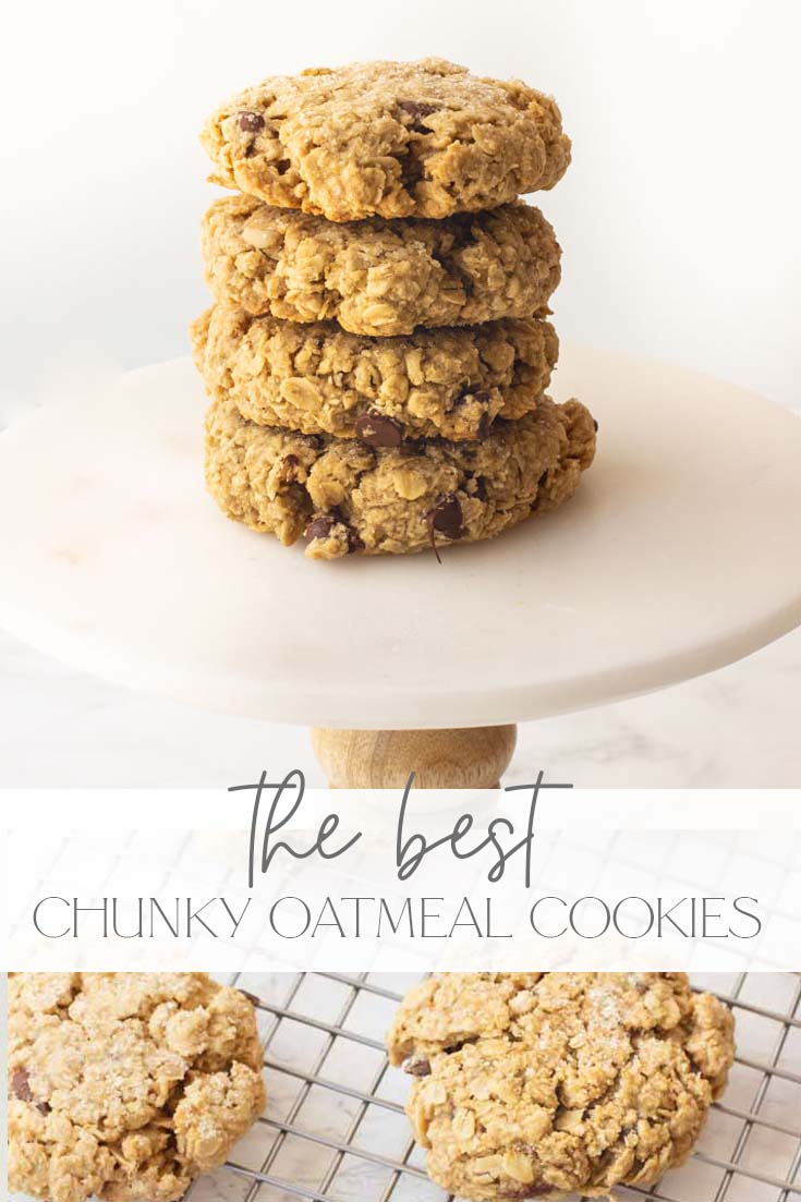 the best thick oatmeal cookie recipe pin