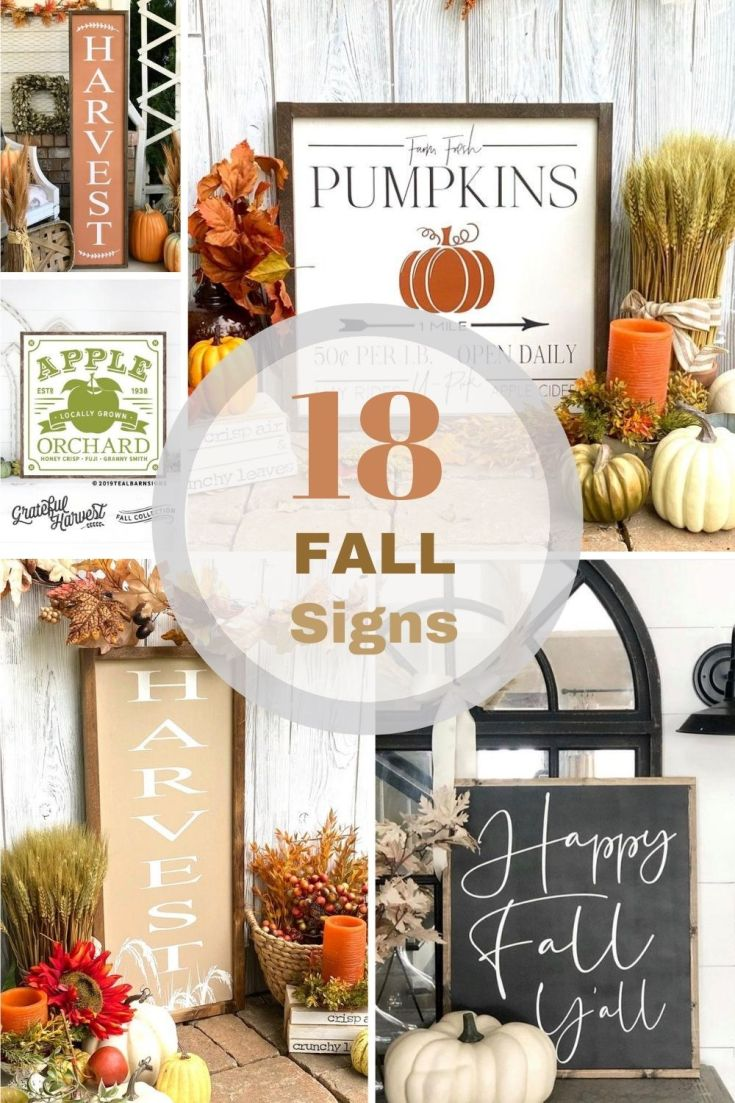 cute fall signs pin