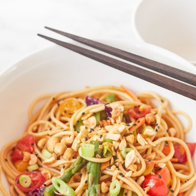 Asian Noodle Salad with Toasted Sesame Dressing