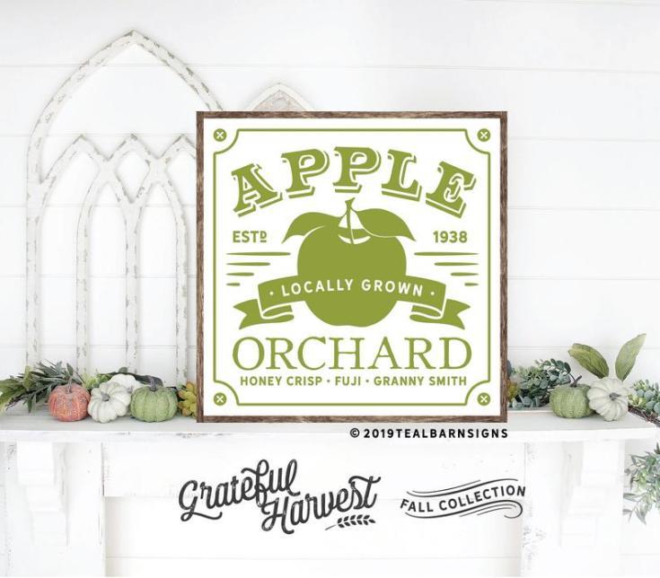 autumn signs apple orchard