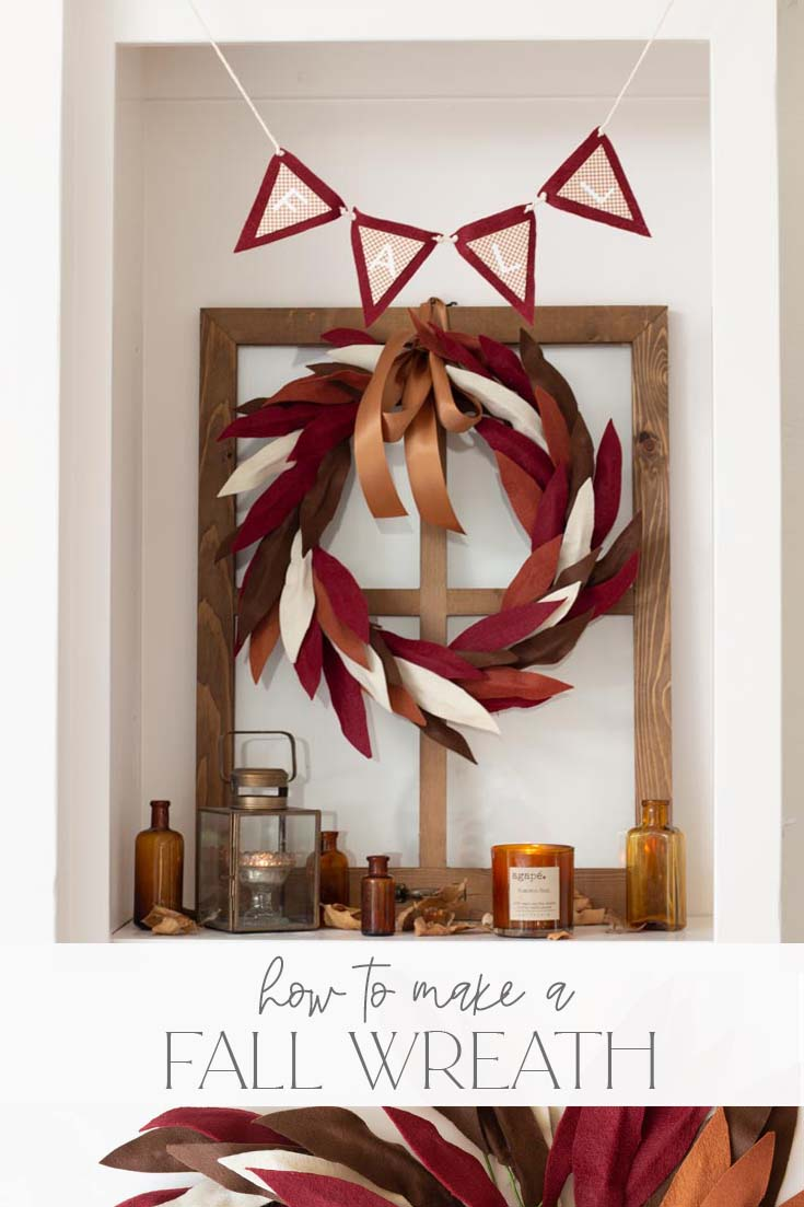 how to make a fall wreath tutorial pin