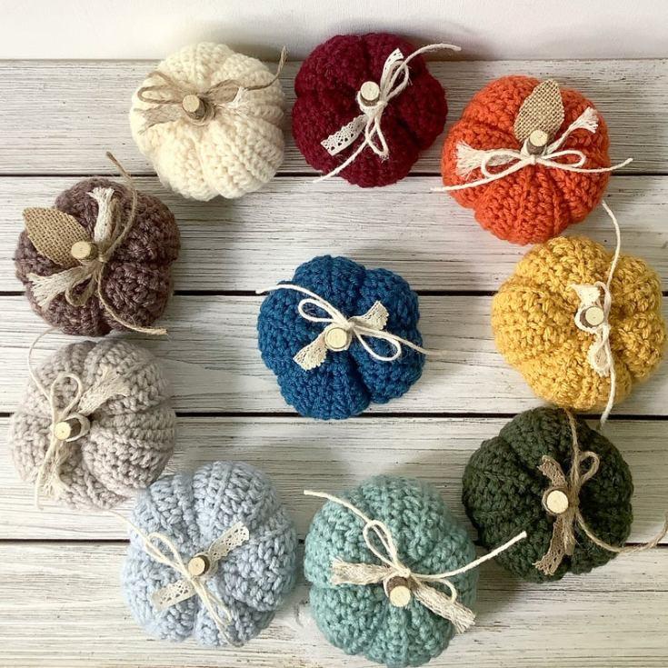 cute crocheted pumpkins