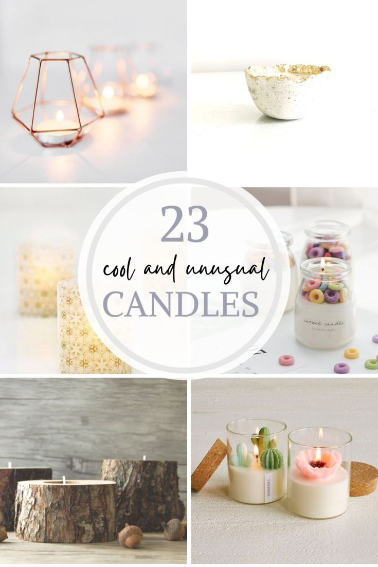 cool and unusual candles pin