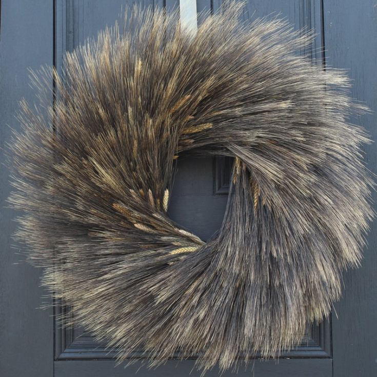 dried wheat wreath