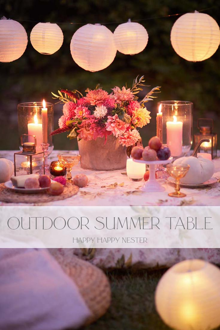 easy outdoor summer table pin