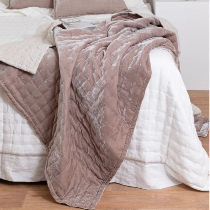 luxurious handstitched velvet blanket
