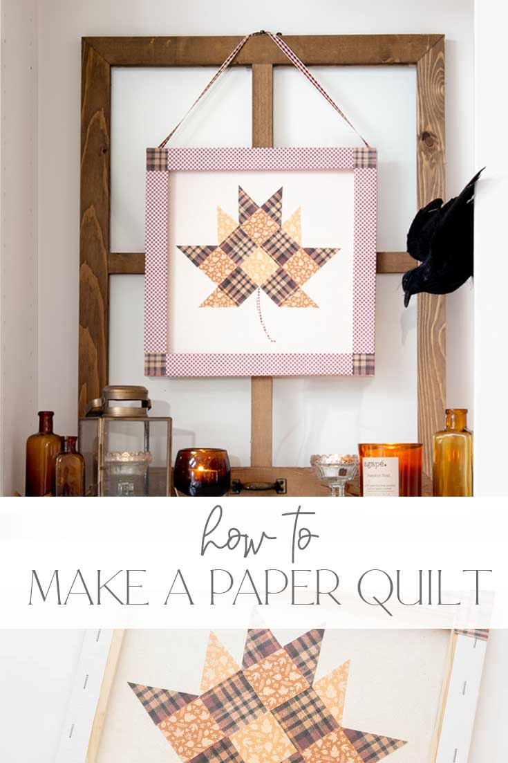 how to make a paper quilt using digital paper pin