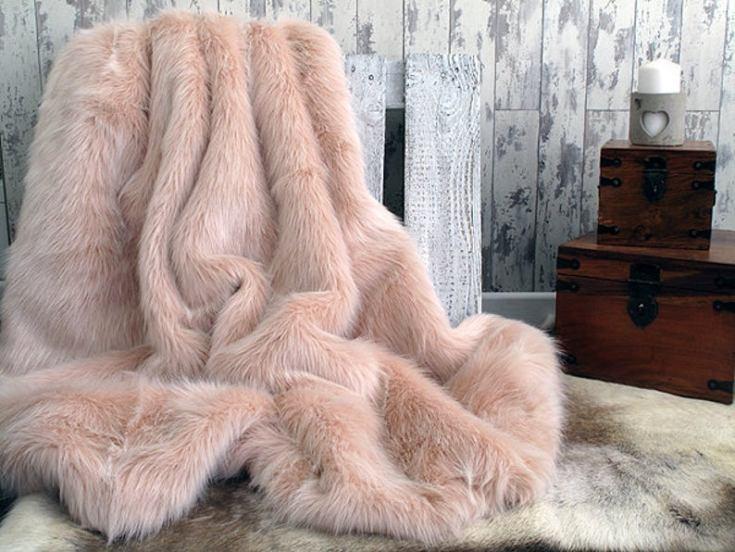 luxurious faux fur blanket