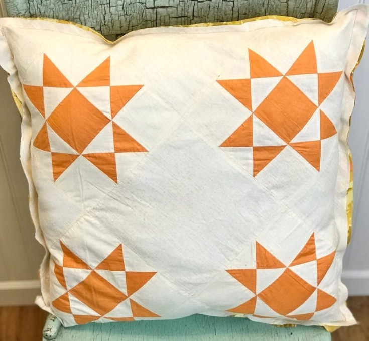 vintage fall quilt pillow