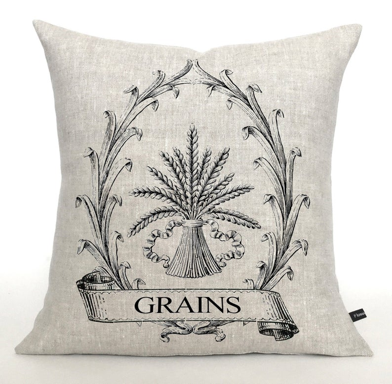 Vintage grain sheath pillow
