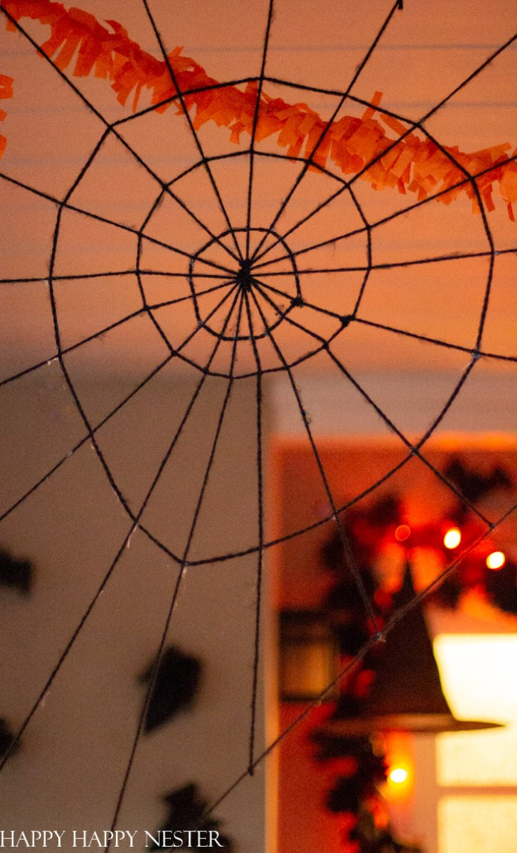 make a spooky giant spider web