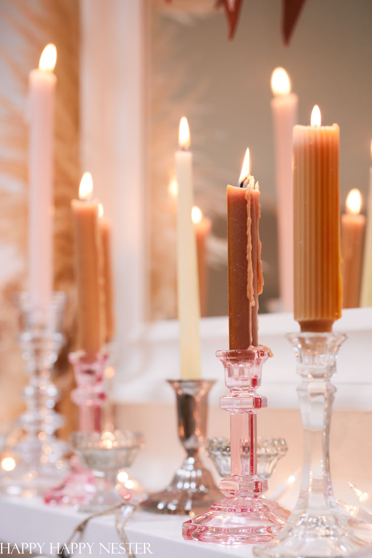 decorating with candles for fall