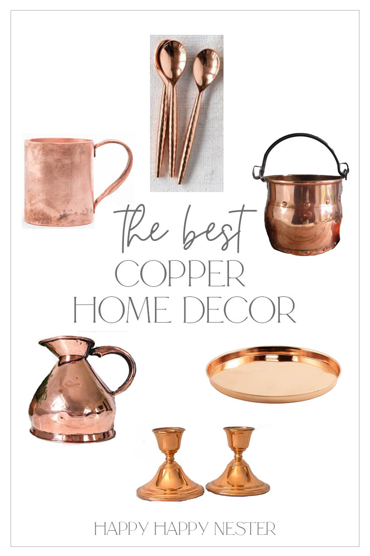 antique copper decor pin