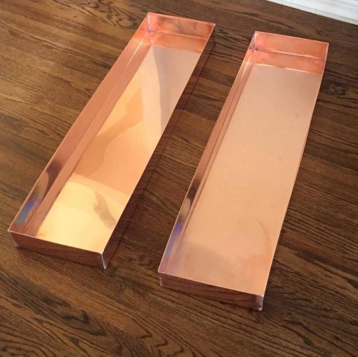 beautiful copper trays