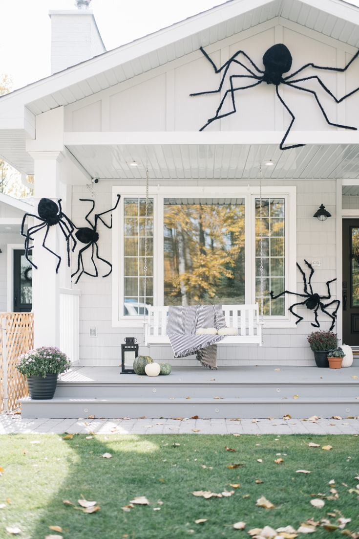 giant spiders on a house