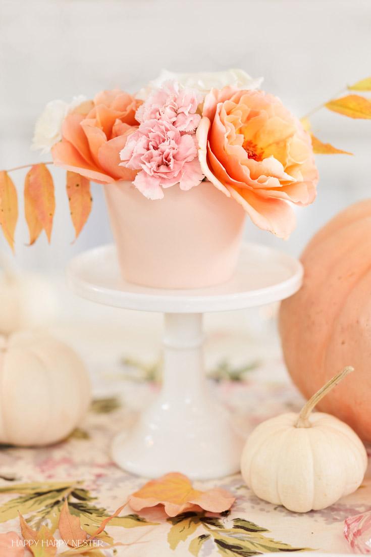 orange and pink floral arrangements