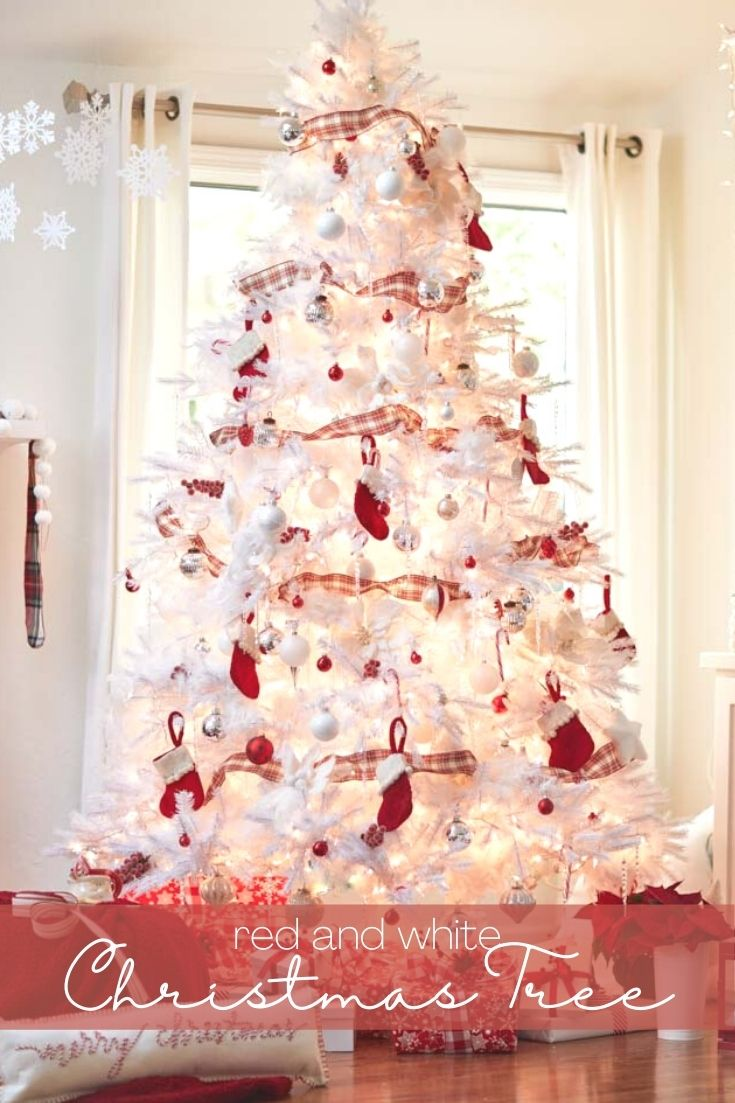 This year we have a Red and White Christmas Tree in our cozy living room. This color combination resembles a striped candy cane and is so fresh and festive. But, decorating with red can be tricky so, let's take a look at how to style a tree with this bright holiday color.
