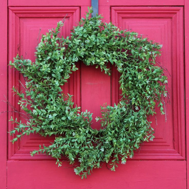 boxwood wreath for christmas