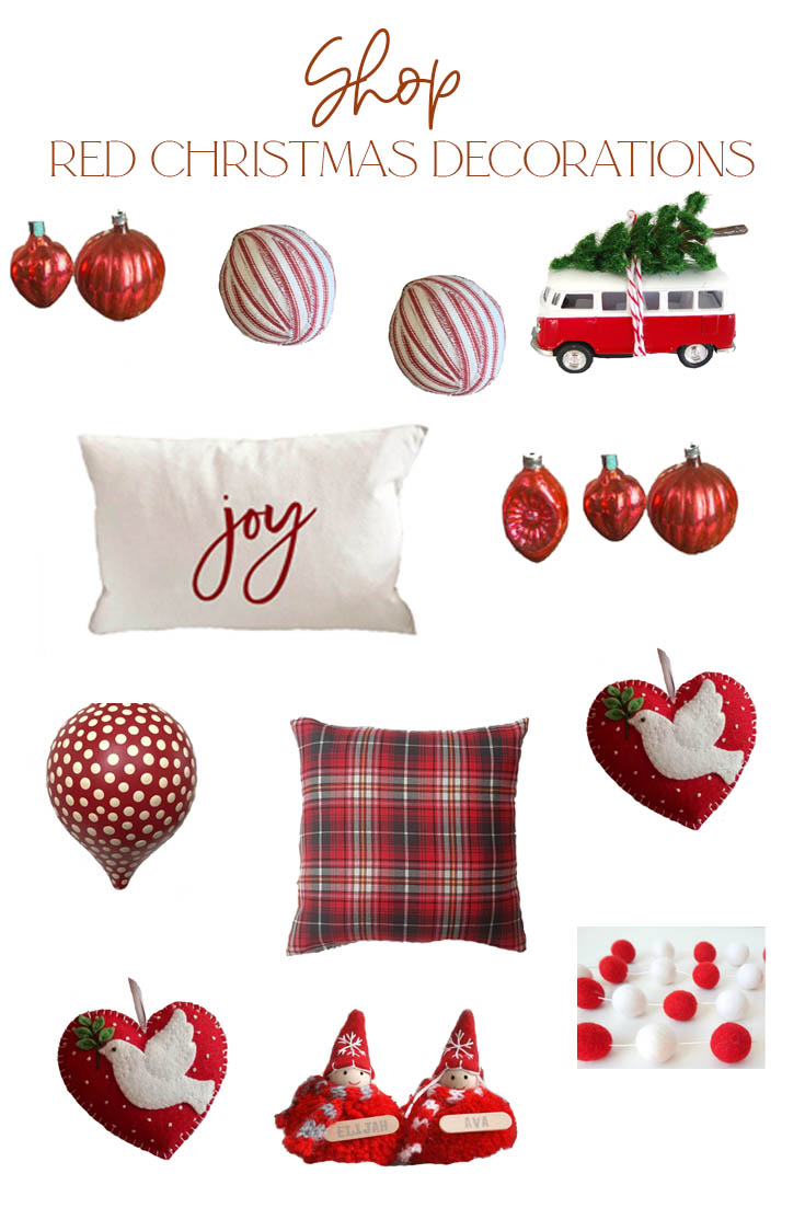 shopping for christmas decorations pin