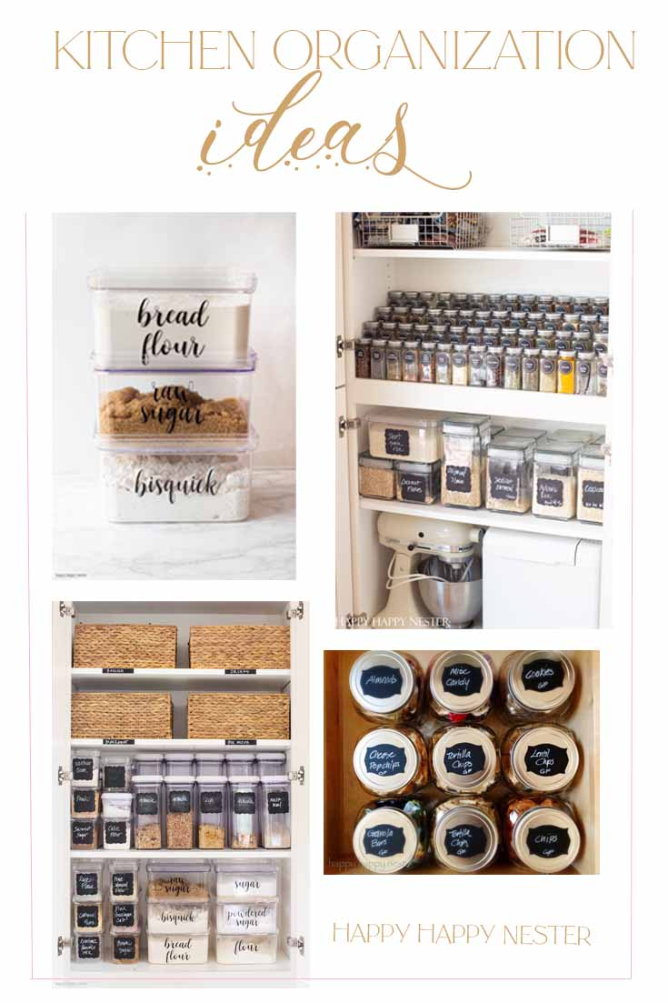 kitchen organization ideas diy pin
