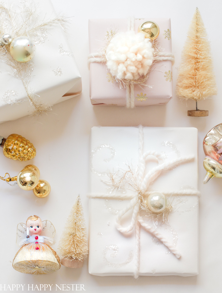 make your own wrapping paper for the holidays
