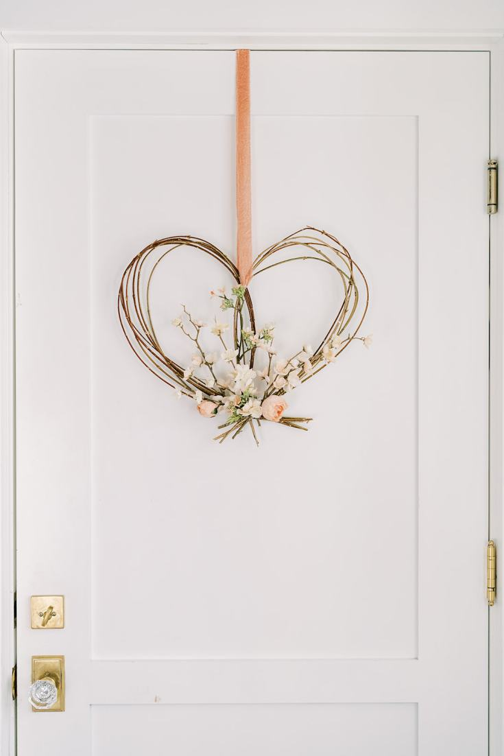 valentines day wreath tutorial